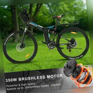 Elektrofahrrad 26 Zoll E-Bike Faltrad 21 Gänge 250W/36V Pedelec Shimano Schwarz