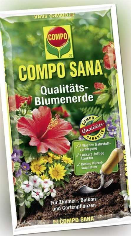 Compo Sana Qualitäts-Blumenerde, 5 l  (1 EUR/l)