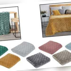 MERY Kuscheldecke Tagesdecke Wohndecke Decke Bettüberwurf Weich 3D