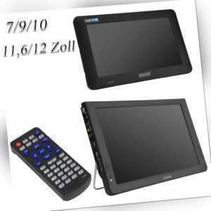"7"" 9"" 10"" 11,6"" 12"" Zoll Tragbar Mini TV DVB-T/DVB-T2 Digital Fernseher DC12V DE"
