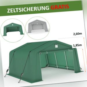 3,3x6,2 Zeltgarage Garagenzelt Lagerzelt Pferde Unterstand Weidezelt SICHER GRÜN
