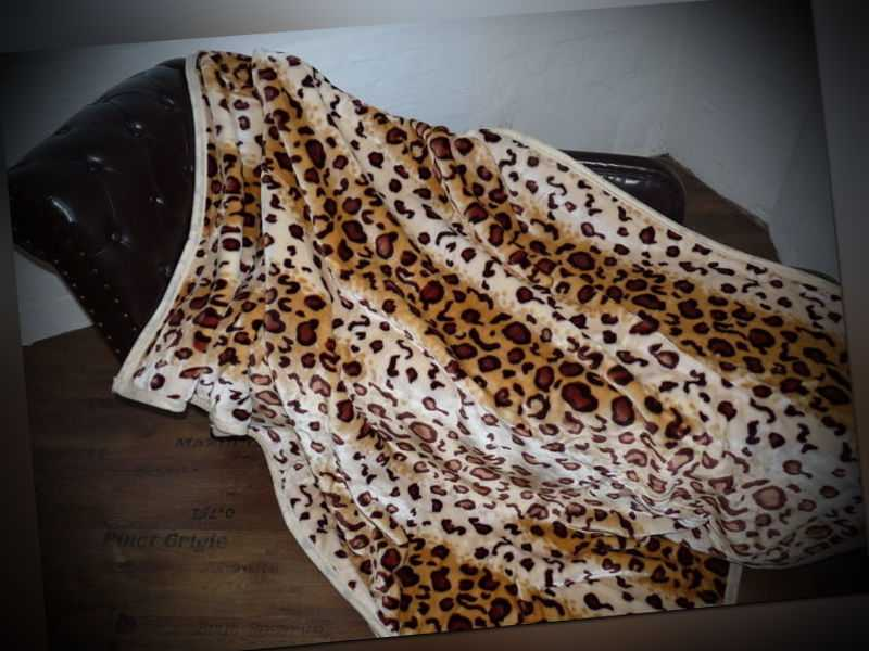 Kuscheldecke Tagesdecke Wohndecke Decke Plaid Felloptik Leopard
