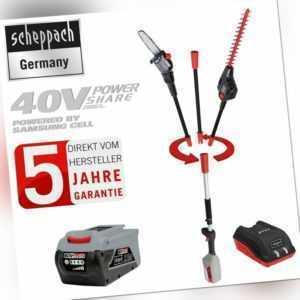 scheppach 40V Akku Hochentaster Multifunktionsgerät + Akku&Ladegerät BPT700-40Li