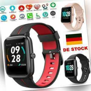 Bluetooth Smartwatch Schrittzähler Armbanduhr Sport Fitness Tracker Waterproof