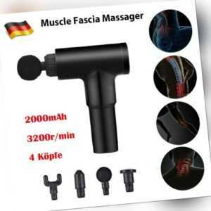 6 Modi Electric Massage Gun Massagepistole Massager Muscle Massagegerät +4 Köpfe