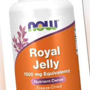 Now Foods, Royal Jelly, 500mg, 60 Vegane Kapseln - Blitzversand