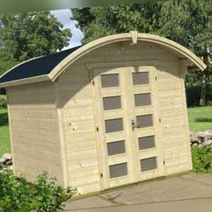 Gartenhaus ca. 250x250 cm mit Fußboden Gerätehaus Holz Schuppen 28 mm