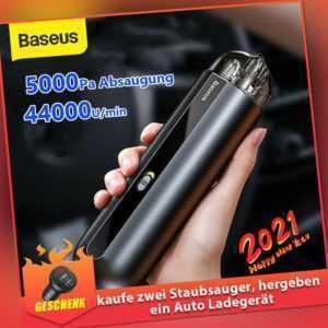 Baseus 5000Pa Kabelloser Staubsauger Auto Handstaubsauger Haus Büro Akkusauger