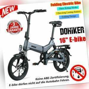 """Klapprad Pedelec 16"""" Elektrofahrrad Mountainbike,Faltbar E-Bike 250W Shimano DHL"""