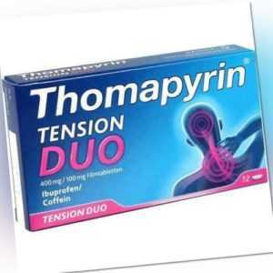 THOMAPYRIN TENSION DUO 400 mg/100 mg Filmtabletten 12 St PZN 12551047
