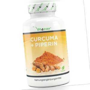 Kurkuma 360 vegane Kapseln 4500mg + Piperin Curcuma - 5% Curcumin Turmeric
