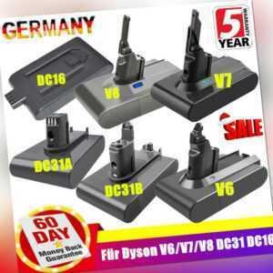 6000mAh 4000mAh Akku für Dyson V8 V7 V6 DC16 DC58 DC59 DC61 DC62 DC31 Type A/B