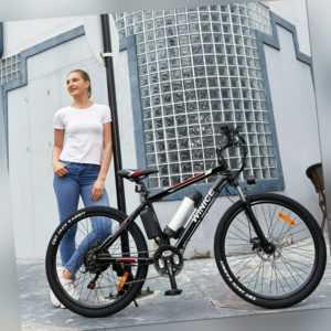 E-BIKE Elektrofahrrad 26 Zoll Mountainbike Ebike Shimano Pedelec 21-Gäng 250W DE