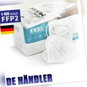 1-200 FFP2 Maske Mundschutz 5 Lagig Atemschutzmaske Schutzmask KN95 Atemschut CE