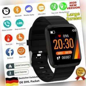 Smartwatch Fitness Tracker Sportuhr mit Schrittzähler Pulsuhren Damen Herren CA
