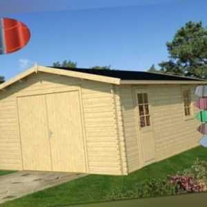 Tene Holzgarage B 40 470 x 570 cm Garage Holz Gerätehaus Gartenhaus Trapezblech