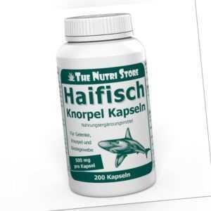 Haifischknorpel 500 mg Kapseln 200 Stk. Für Gelenke, Knorpel und Bindegewebe