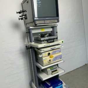 OLYMPUS WM-N60 ENDOSKOPIE TURM INKL. CV-160 VIDEO PROZESSOR CLV-160 LICHTQUELLE