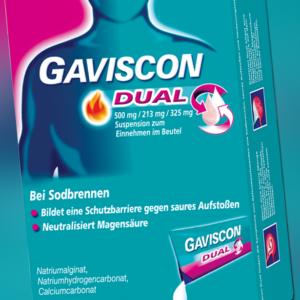 GAVISCON DUAL 500/213/325 24x10 ml Susp. im Beutel PZN 4363834