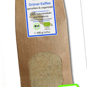 Grüner Kaffee Bio gemahlen - Rohkaffee Honduras 500g -Green Coffee