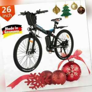 E-Bike 26 Zoll Klapprad Elektrofahrrad Mountainbike Citybike Shimano 21-Gang EU