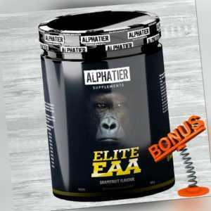 Alphatier Elite EAA Pulver 500g Dose 48,98 €/kg Vegan glutenfrei + Bonus