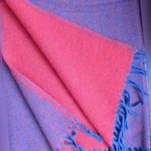 Wollplaid doppelseitig Plaid Wolldecke Tagesdecke 140x200cm 100%
