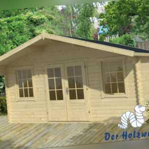 28 mm Gartenhaus Viggo Blockhaus INCLUSIVE MONTAGE Gerätehaus Holzhaus 5x4 m