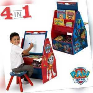 Tafel Schreibtisch Spielzeugkiste Bücherregal Kinder Holz Regal Paw Patrol 4in1