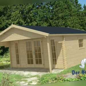 44mm Gartenhaus Emiel Blockhaus INCLUSIVE MONTAGE Gerätehaus Holzhaus 5x5m