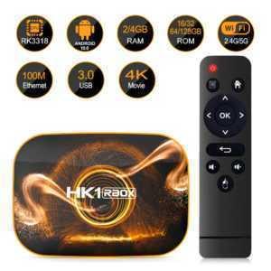 HK1 RBOX R1 Android 10.0 TV Box 4K QuadCore 2.4G 5G WiFi BT4.0 Media Player X2T9