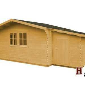 Gartenhaus + Anbauschuppen 320x320 cm 34 mm Gerätehaus NEU Holz Gerätehaus