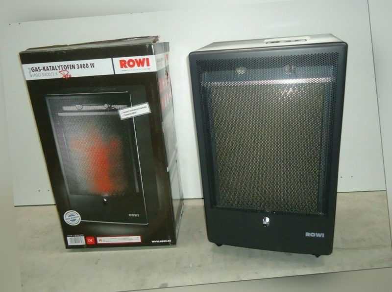 ROWI Gas-Katalytofen 3400W HGO 3400/2 K Pro schwarz