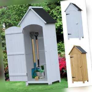 Outsunny Gartenschrank Holz Giebeldach Geräteschuppen Gartenhaus Geräteschrank