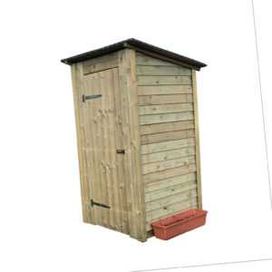 HOQ Toilettenhaus Flachdach Gartenhaus Gerätehaus Geräteschuppen Klohaus NEU