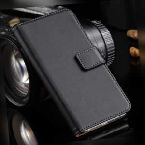 Black Leather Wallet Flip case Sony Xperia XA XZ3 X XZ2 XA1 L1 L2...