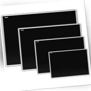 ALLboards Schwarze magnetische Kreidetafel mit Alurahmen Schultafel