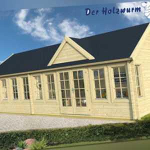 70 mm Gartenhaus ca. 930x400 cm Blockhütte Holzhaus Ferienhaus Gerätehaus Holz