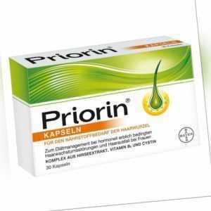 Priorin Kapseln bei hormonell erblich bedingtem Haarausfall bei Frauen, 30 Kaps.