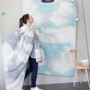 """David Fussenegger Wohndecke Savona """"Wolken groß"""" 150 x 200 cm -"""