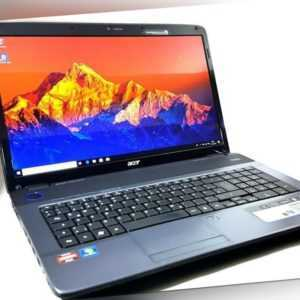 Laptop Acer Aspire 7540G,Notebook,17,3 WIN10, duo-core 2,1GHz