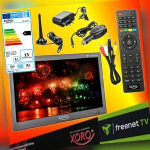 Xoro PTL 1050 DVB-T2 tragbarer HD freenet TV Fernseher 12V 24V 230V LED-TV EEK A