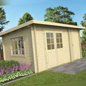 34 mm Gartenhaus 450x300 cm Gerätehaus Blockhaus Schuppen Holzhaus Holz Hütte