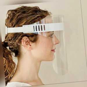 Großer Gesichtsschutz Schutzschild Spuckschutz mit Stirnband - Made in Germany