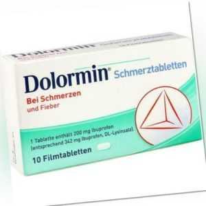 DOLORMIN Filmtabletten 10 St 04590205
