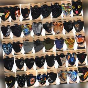 Stoffmaske Mund-Nasen-Maske Gesichtsmaske einstellbare Alltagsmaske