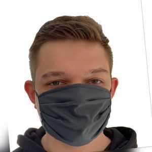 2 Stück Mund Nasenmaske Behelfsmaske Mundbedeckung Baumwolle waschbar Unisex