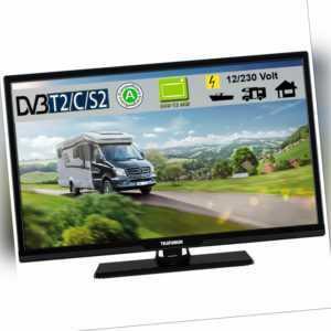 Telefunken T24X720 mobi LED TV Fernseher 24 Zoll DVB/S/S2/T2/C 12Volt + 230 Volt