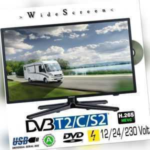 Gelhard GTV-2082PVR LED 20 Zoll Wide Screen TV DVD DVB/S/S2/T2/C 12/24/230 Volt