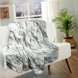 Kuscheldecke Decke Wohndecke Tagesdecke Tierfell-Optik Plaid